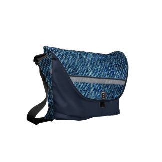 Jeans Pattern Small Messenger Bag