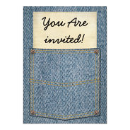 Jeans Pocket BBQ Invitations at Zazzle