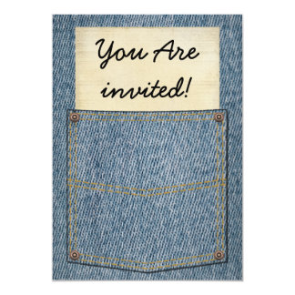 Jeans Pocket BBQ Invitations