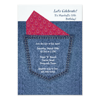 Jeans Pocket Invitation