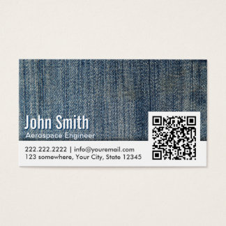 Jeans QR Code Aerospace Engineer Business Card