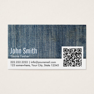 Jeans QR Code Game Testing Business Card