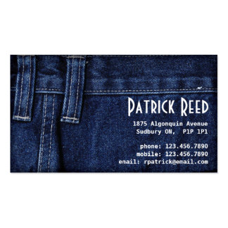 Jeans - Style B Business Card Template