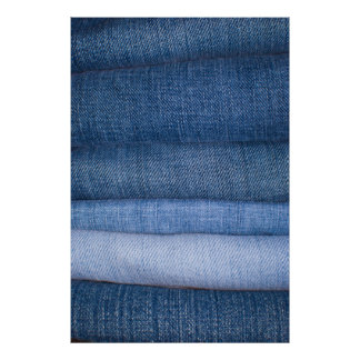 Jeans Texture Background Print