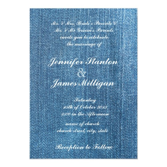 Jeans texture card