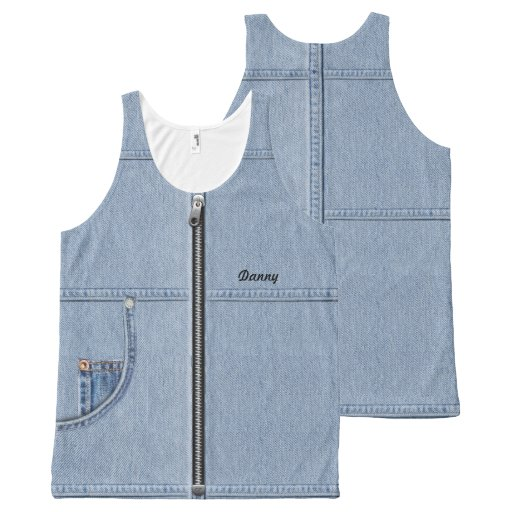 Jeans Top with Your Name All-Over Print Tank Top Tank Tops, Tanktops Shirts