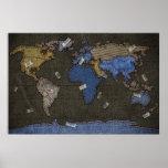 Jeans World Map Print