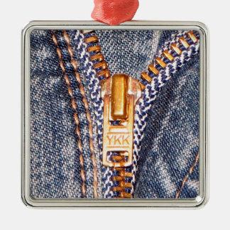 Jeans Zipper Christmas Ornament