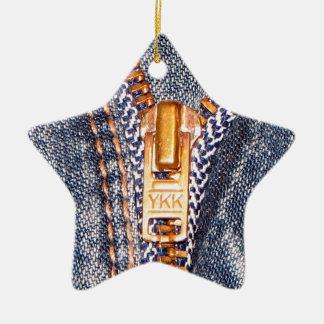 Jeans Zipper Ornament