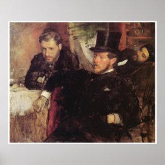 Jeantaud, Linet y Laine, 1871 - Edgar Degas Póster