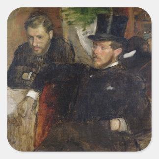 Jeantaud, Linet y Laine, 1871 Calcomania Cuadradas Personalizadas