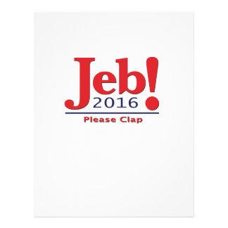 Jeb! 2015 - Please Clap Letterhead