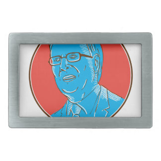 Jeb 2016 President Drawing Belt Buckle