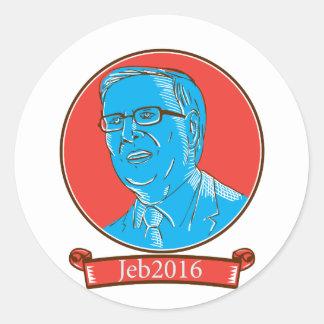 Jeb 2016 President Drawing Classic Round Sticker