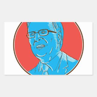 Jeb 2016 President Drawing Rectangular Sticker