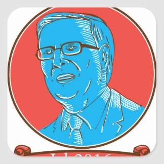 Jeb 2016 President Drawing Square Sticker