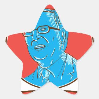 Jeb 2016 President Drawing Star Sticker