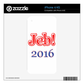 Jeb! 2016 decals for iPhone 4