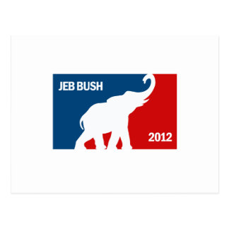 JEB BUSH 2012 PRO POSTCARD
