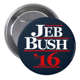 Jeb Bush 2016 botones de la campaña Pin Redondo De 3 Pulgadas