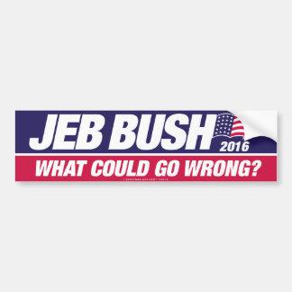 Jeb Bush 2016 Pegatina Para Coche
