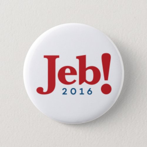 Jeb Bush 2016 Campaign Button _ 225 Round