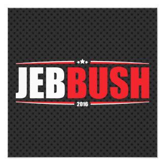 Jeb Bush 2016 (estrellas y rayas - negro) Fotografía