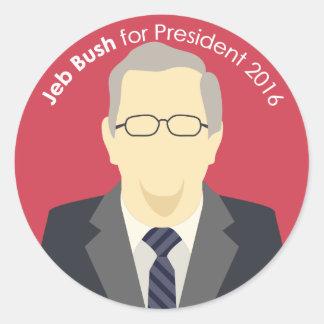 Jeb Bush 2016 for president custom sticker