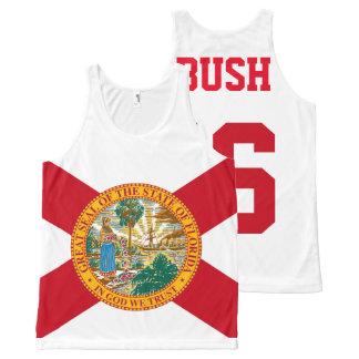 Jeb Bush 2016 para la bandera de presidente la Camiseta De Tirantes Con Estampado Integral