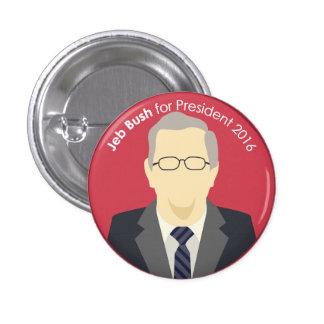 Jeb Bush 2016 para presidente Support Button Pin Redondo 2,5 Cm