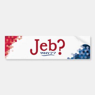 Jeb Bush 2016 Parody Bumper Sticker