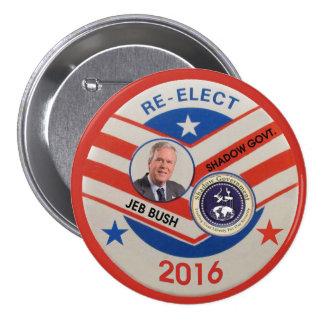 Jeb Bush 2016 Pin Redondo De 3 Pulgadas