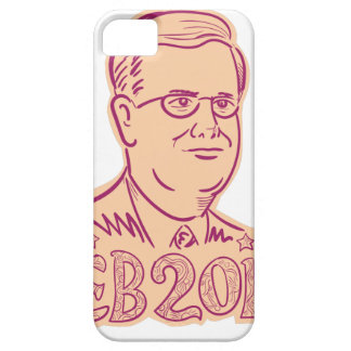 Jeb Bush 2016 President Cartoon iPhone SE/5/5s Case