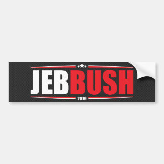 Jeb Bush 2016 (Stars & Stripes - Black) Bumper Sticker
