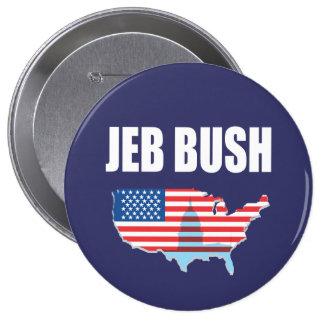 JEB BUSH Election Gear Pinback Button