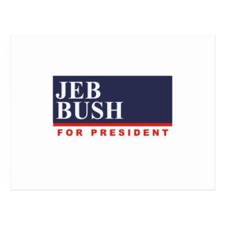 JEB BUSH FOR PRESIDENT (Banner) Postcard