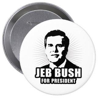 Jeb Bush for President Pinback Buttons
