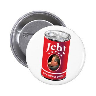 Jeb Bush for President Humor, Low Energy Drink 2 Inch Round Button