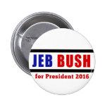 Jeb Bush for President in 2016 Pinback Button