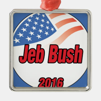 Jeb Bush for president on 2016 Metal Ornament