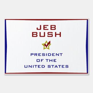 Jeb Bush for President USA Yard Lawn Sign