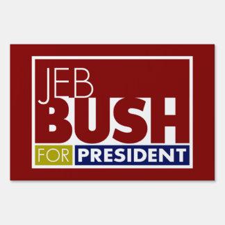 Jeb Bush for President V1 Yard Lawn Sign