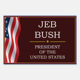 Jeb Bush for President V3 Yard Lawn Sign