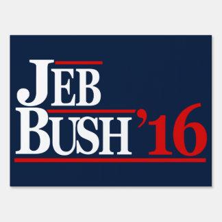 Jeb Bush muestras de 2016 yardas Señales