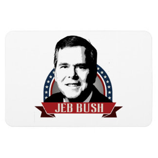 JEB BUSH NAMEPLATE -.png Rectangular Photo Magnet