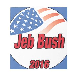 Jeb Bush para el presidente 2016 Bloc De Notas