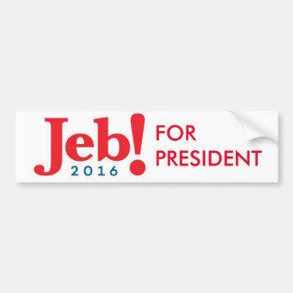 Jeb Bush para la pegatina para el parachoques 2016 Pegatina Para Auto