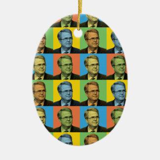 Jeb Bush Pop-Art Christmas Tree Ornaments