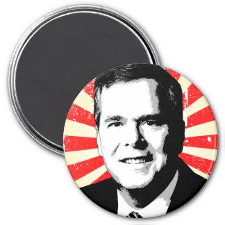 Jeb Bush Portrait 3 Inch Round Magnet