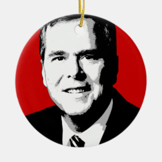 Jeb Bush Portrait Christmas Ornaments